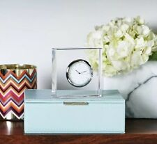 "Nib Anna New York Vola Lucite Desk Clock Etched ""Your Time Is Now"" $85"