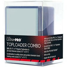 More details for ultra pro toploader deck box, 25 toploaders & 25 standard soft sleeves combo