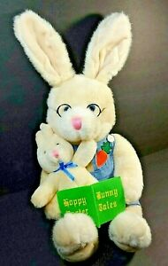 1998 Kids Preferred Cottontail Bunny with Glasses Book Reading to Baby Rabbit