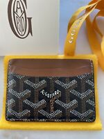 100% Authentic Goyard St. Sulpice Cardholder Black/Brown