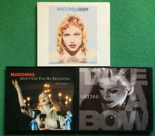 Take a Bow - Don't Cry for Me Argentina - Rain (Lot of 3 Madonna CD Singles)