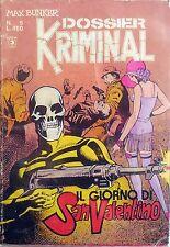 KRIMINAL DOSSIER N.5 CORNO FUMETTO MAX BUNKER MAGNUS