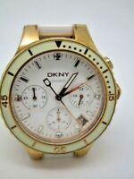 DKNY LADIES' CHAMBERS CERAMIC CHRONOGRAPH WATCH NY8504    (117Y)