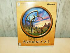 Asheron's Call by Microsoft - Vintage Pc Game -Rare 1999 Complete Big Retail Box