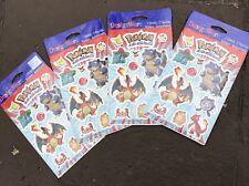 New Pokemon Stickers 4 Seal Vtg Packs American Greeting Card DesignWare Nintendo