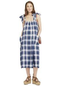 Hatch Maternity Women's THE ALEXIA DRESS Blueberry Cotton Size 1 (S/4-6) NEW