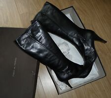 BNIB PIED A TERRE gorgeous black leather boots UK7 EUR40 RRP £185