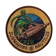 20,000 Leagues Under the Sea Submarine Nautilus Embroidered Patch