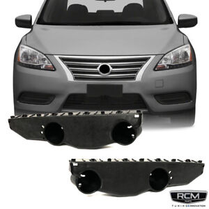 Fit for 2013 2015 Nissan Sentra Front Bumper Brackets Support Pair Set