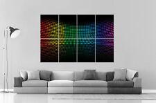 Multicolor Circles rainbow Arc En Ciel digital Wall Art Poster Grand format A0