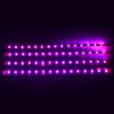 Purple led strip car lighting ebay purple 4pcs 30cm15 led car motors truck flexible strip light waterproof 12v mozeypictures Gallery