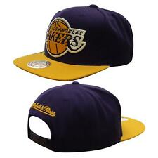 Mitchell & Ness LA Laker Adjustable Snapback Adults Cap Hat Purple Gold LA
