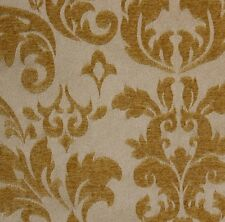 """Upholstery Jacquard  Gold Damas scarlet and Drapery fabric per yard  56"""" wide"""