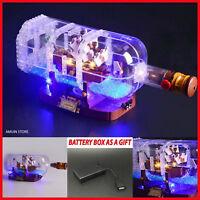 LED Light Kit For LEGO 21313 ship in a Bottle Set Lighting Bricks + Battery box