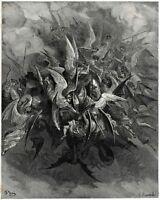 Battaglia tra Angeli fedeli a Dio e angeli ribelli. Milton:Paradiso perduto.1890