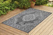 Contemporary Indoor/ Outdoor Sisal Area Rug for Garage, Garden Kitchen | Gray