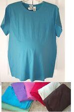 New Plus Size DUO Maternity Basic Round Neck Short Sleeve Tee - Beige/Khaki - 2X
