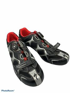 SPECIALIZED S-WORKS cycling triathlon shoes mens size 47 red black