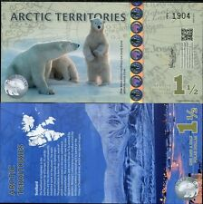 Arctic territories 1 1/2 dollars 2014 poloymer unc