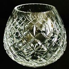"""Rare Signed Vintage 5""""/12cm Heavy (700g) Edinburgh Crystal Scottish Posy Vase"""
