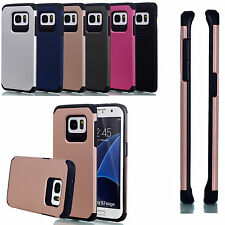 Shockproof Hard Hybrid Armor Soft Rubber Cover Case For Samsung S6 S7 iPhone 6 7