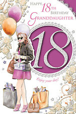 XPRESS YOURSELF 18 TODAY GRANDDAUGHTER - 18TH BIRTHDAY CARD - CELEBRITY STYLE