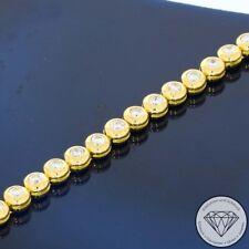 Wert 9.300,- Tennis Brillant Armband 3,00 Ct 750 / 18 Karat Gelb Weiß Gold xxyy