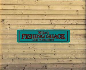 Personalized Lake House Metal Sign Custom Vacation Home Plaque fishing cabin L15