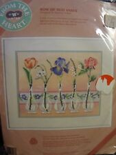 ROW OF BUD VASES - From the Heart Needlepoint Kit - 52047