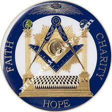 Z-15 Pillars Faith Hope Charity Masonic Auto Emblem FreeMasonry Car Lodge Mason