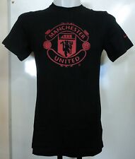 MANCHESTER UNITED BLACK BASIC CORE TEE BY NIKE SIZE SMALL BRAND NEW WITH TAGS