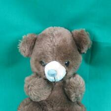 VINTAGE RUSS MADE IN KOREA 8406 BROWN TEDDY BEAR ADORABLE CUTE LITTLE GUY PLUSH