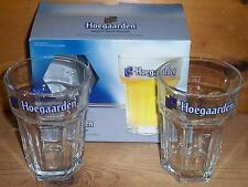 HOEGAARDEN SIGNATURE HEXAGONAL TUMBLER PUB GLASSES NEW