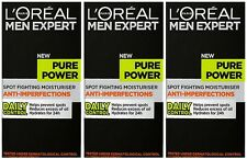 3x50ml LOreal Men Expert Pure Power Spot Fighting Moisturiser Anti-Imperfections