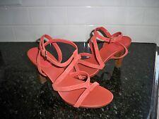 Circa Joan & David Size 9M Womens Persimmon Pazzo Strappy Suede Sandals