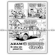 PUB CITROËN AZAM 6 (2CV) - Original Advert / Publicité 1966