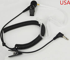 NEW Acoustic Tube Listen Only 2.5mm Ear Piece Speaker/Shoulder Microphone USA