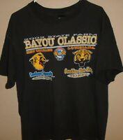 vintage 2002 Grambling Tigers vs Louisiana State Tigers Bayou Classic t shirt XL