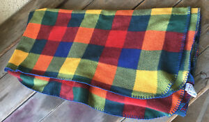 Gymboree Fleece Throw Childrens Boys Vintage Collection 1998 Checkered 20 Years
