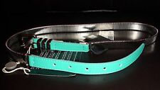"""NEW JUST CAVALLI  LEATHER WOMEN'S BELT sz. L XL  37"""" 44""""  MADE IN ITALY"""