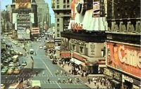 1960s Times Square Chicago Syndicate Movie Chrome NYC Postcard