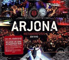 """RICARDO ARJONA -"""" METAMORFOSIS EN VIVO"""" - 2CDS + 1 DVD - ORGINAL SEALED"""