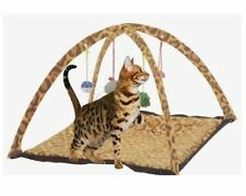 BUTTERFLY PET CAT ACTIVITY PLAYING TENT BED PAD MAT WITH HANGING TOYS