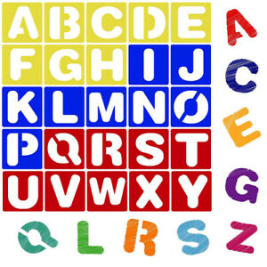 (10cm ) - Karty Alphabet Letter Stencil Set for Kids and Adults | Painting,