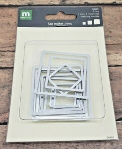 NEW 12/24/36 Making Memories Square Tag Maker Rims Scrapbooking Paper Crafting