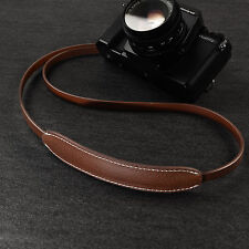 CANPIS Real Paded Leather Camera Neck Shoulder Strap for Fuji Sony Olympus [BRW]