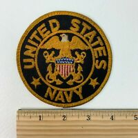 US Navy Naval Military Insignia Eagle Flag Round Patch