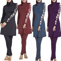 Muslim Islamic Women Swimwear Cool Swimsuit Swimming Modesty Full Cove Beachwear