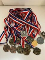 vintage medals w/ribbons lot of 18