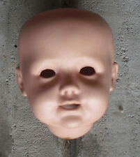 "Vintage Porcelain JDK Kestner 247  Reproduction  Boy Doll Head 3 3/4"" Tall #2"